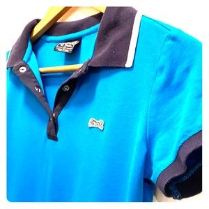 Or Tigre Polo Shirt XS Turquoise Blue